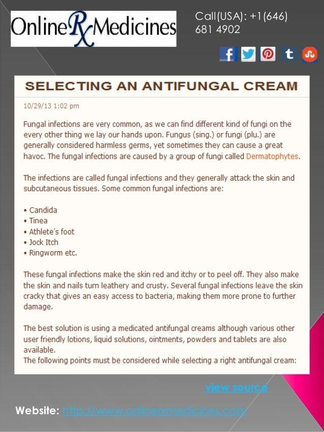 Selecting an Antifungal Cream
