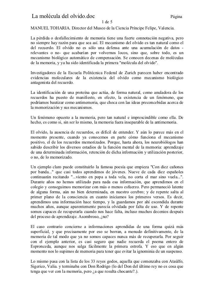 La molécula del olvido.doc                                                     Página                                1 de ...