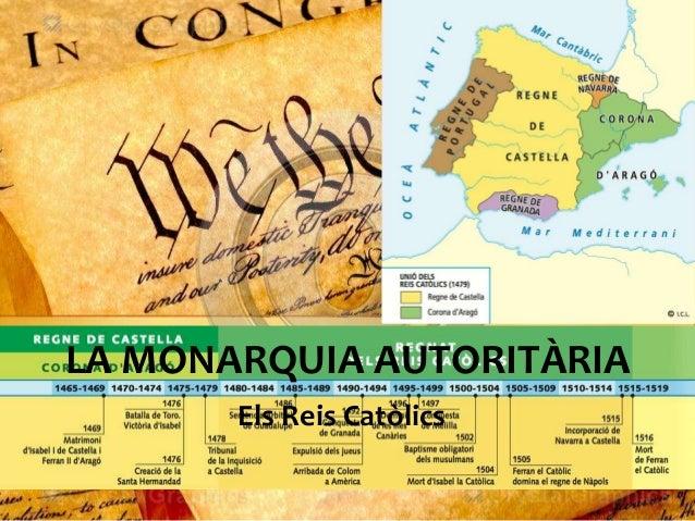 LA MONARQUIA AUTORITÀRIA Els Reis Catòlics