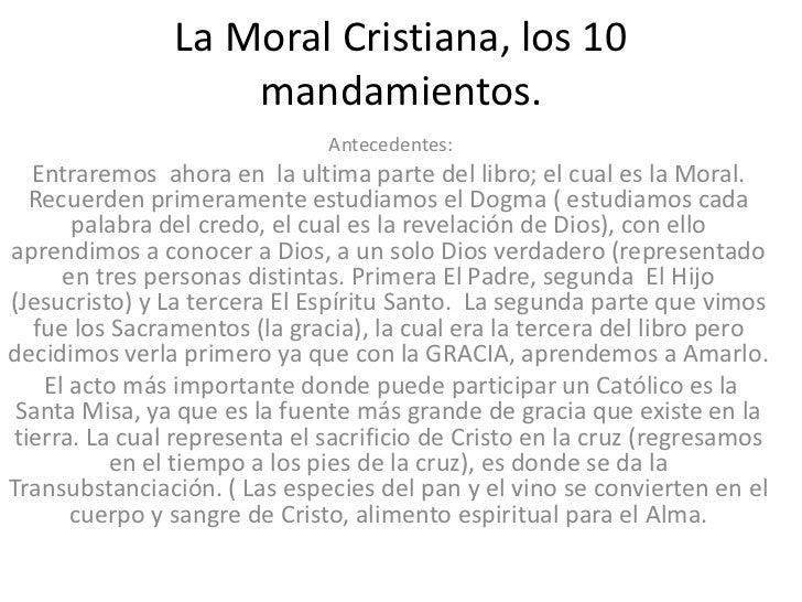 Mandamientos Del Matrimonio Catolico : La moral cristiana los mandamientos clase