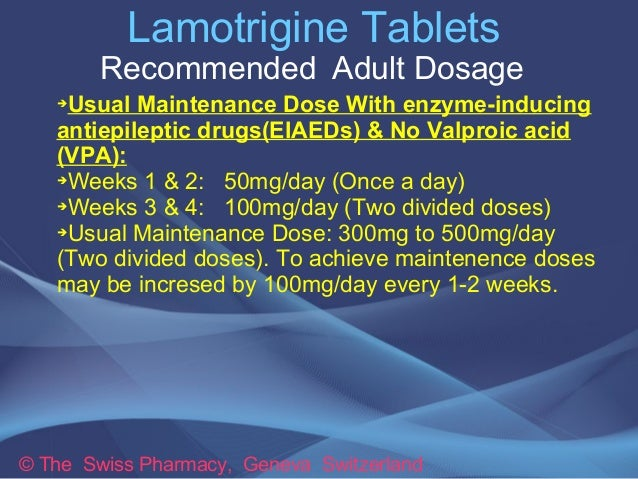 Lamictal Dosage Increase
