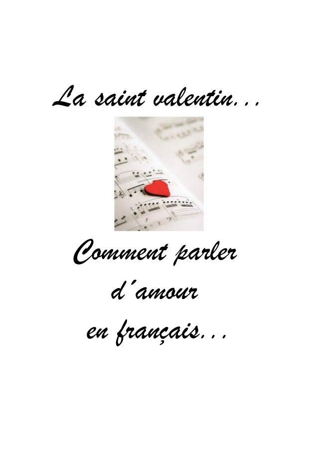 La saint valentin...  Comment parler d´amour en français...