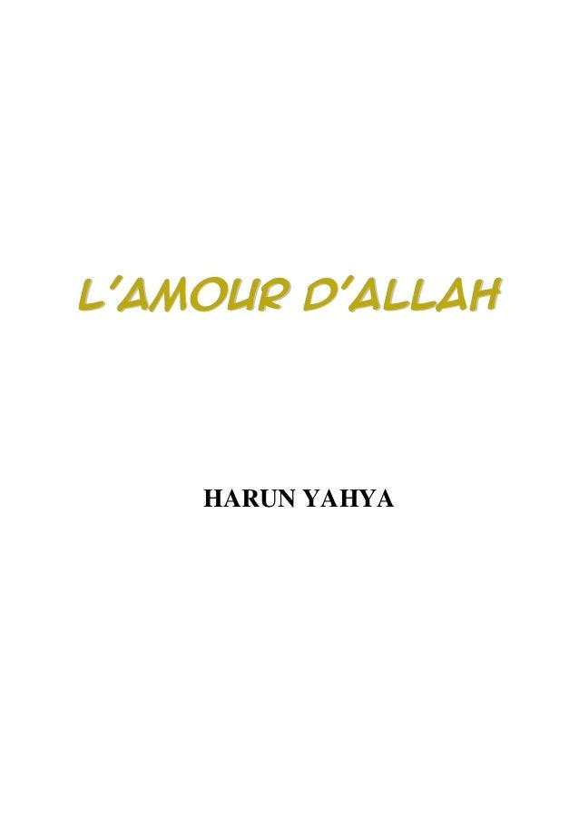 LL''AAMMOOUURR DD''AALLLLAAHH HARUN YAHYA