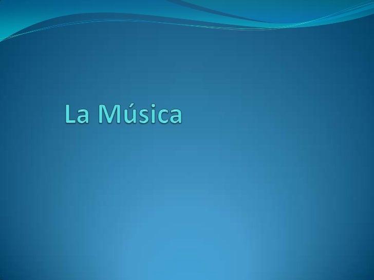 """La música La música (del griego: μουσική [τέχνη] - mousikē [téchnē], """"el arte de las musas"""") es, según la definición trad..."""