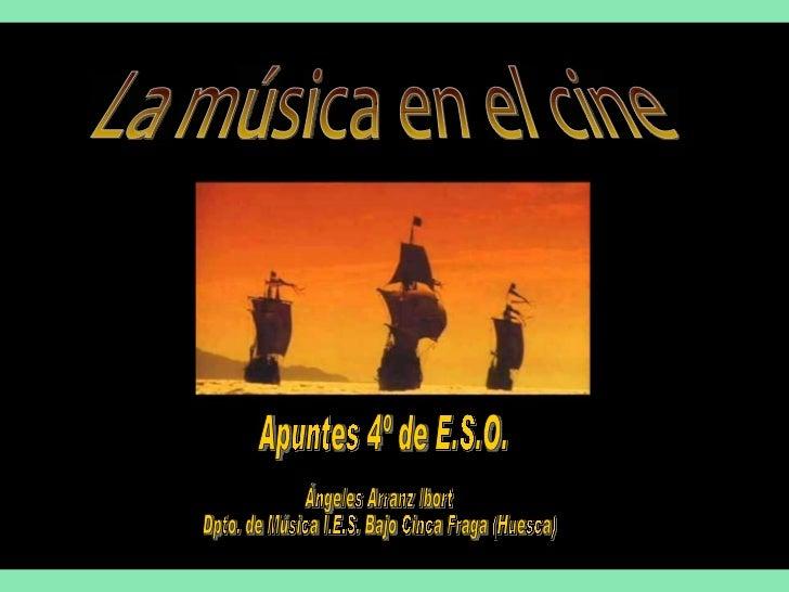 LA MÚSICA EN EL CINEEl cinematógrafo fue inventado por los hermanos Lumière y realizaron su 1ª exhibición pública en París...