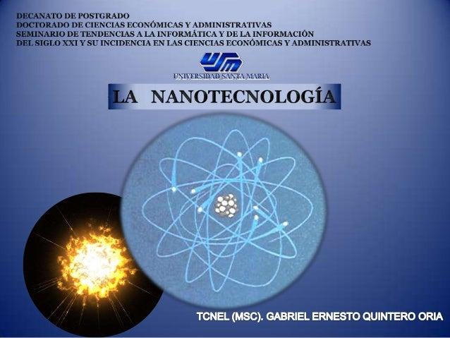La nanotecnología