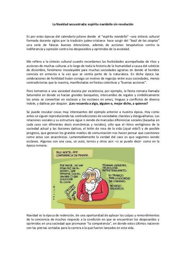 """La Navidad secuestrada: espíritu navideño sin revoluciónEs por estas épocas del calendario juliano donde el """"espíritu navi..."""