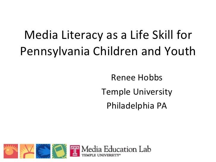 Media Literacy for Life Skills