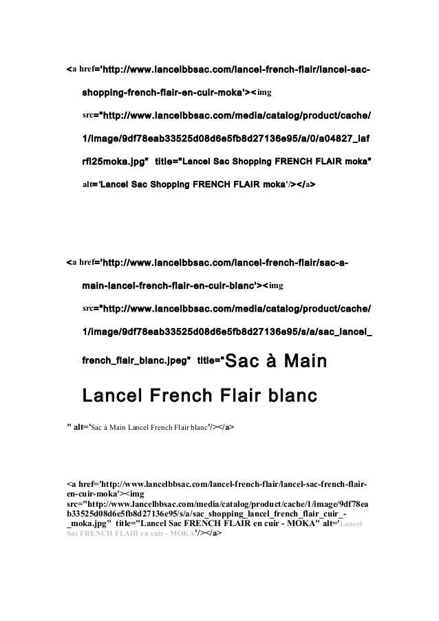 "<a href='http://www.lancelbbsac.com/lancel-french-flair/lancel-sac-shopping-  french-flair-en-cuir-moka'><img  src=""http:/..."
