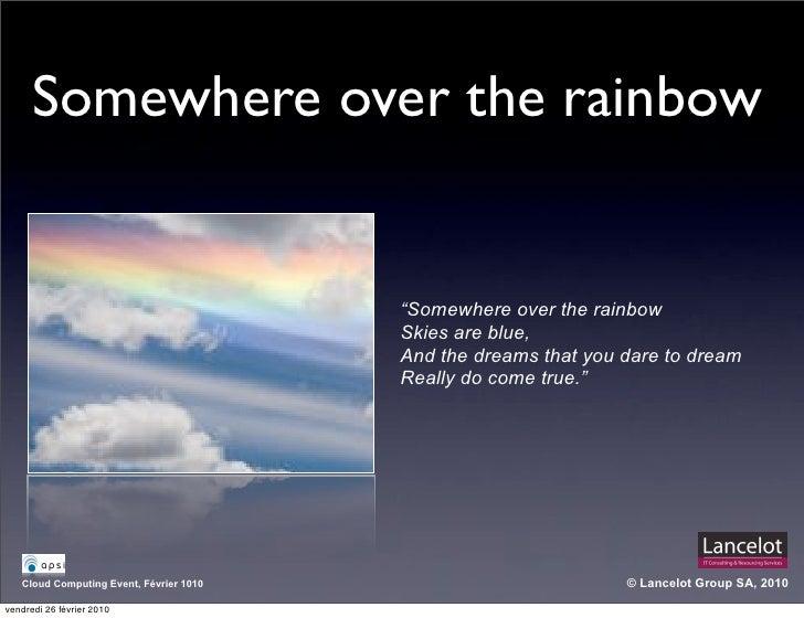 "Somewhere over the rainbow                                            ""Somewhere over the rainbow                         ..."