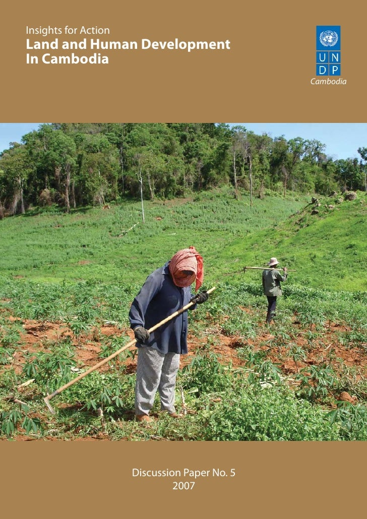 Land And  Human  Development In  Cambodia.Pdf