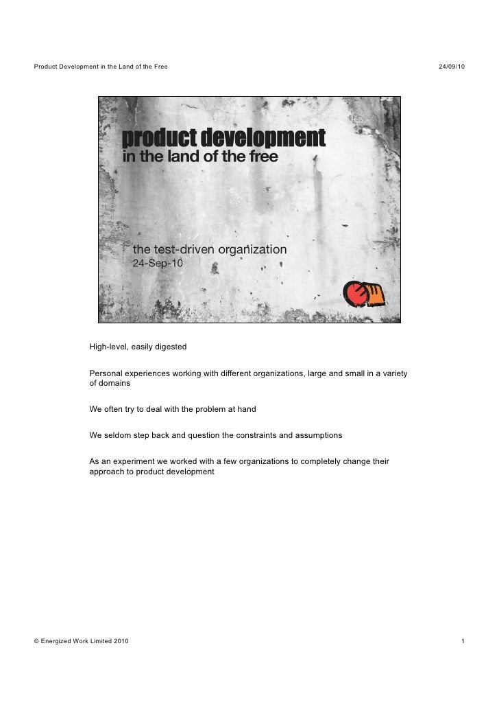 Product development in the land of the free - Simon Baker & Gus Power