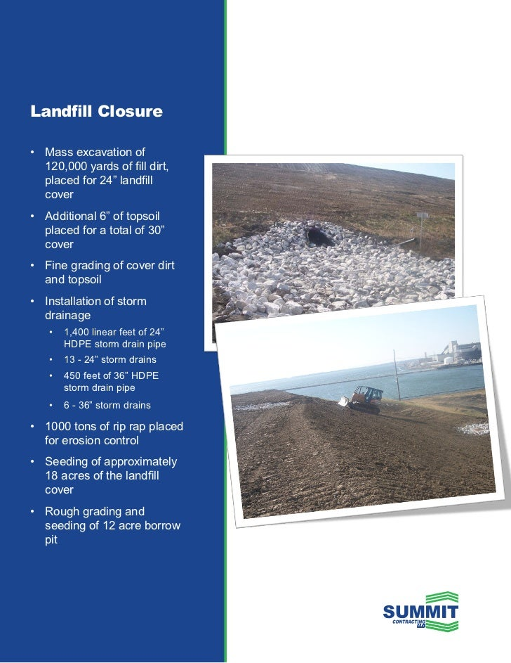 Landfill projects