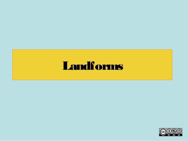 Landform 3rd ESO