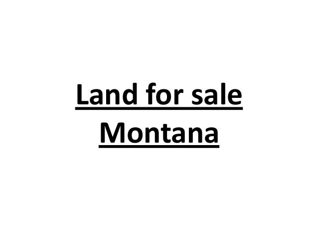Land for sale Montana