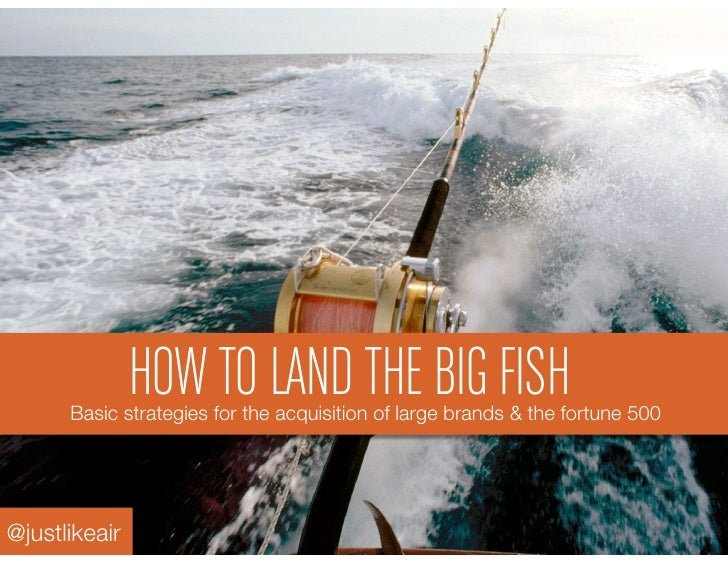 HOW TO LAND THE BIG FISH      Basic strategies for the acquisition of large brands & the fortune 500 @justlikeair