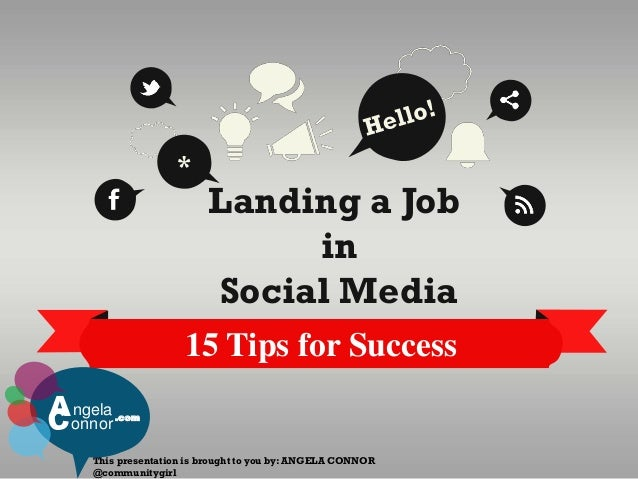*                         Landing a Job                              in                         Social Media              ...