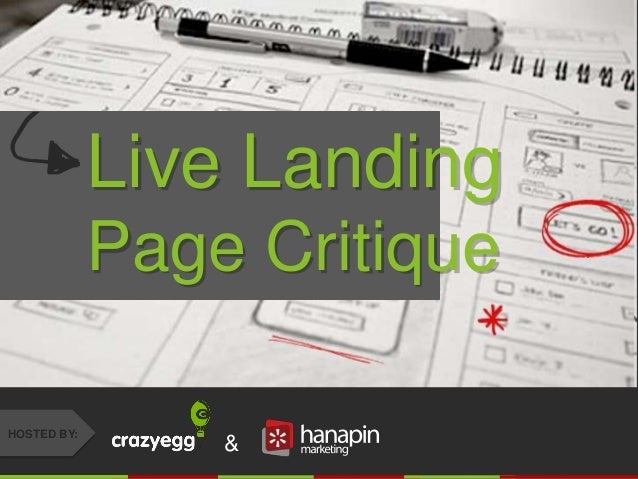 #thinkppc & HOSTED BY: Live Landing Page Critique
