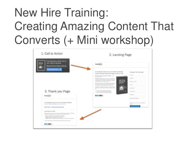 New Hire Training:Creating Amazing Content ThatConverts (+ Mini workshop)