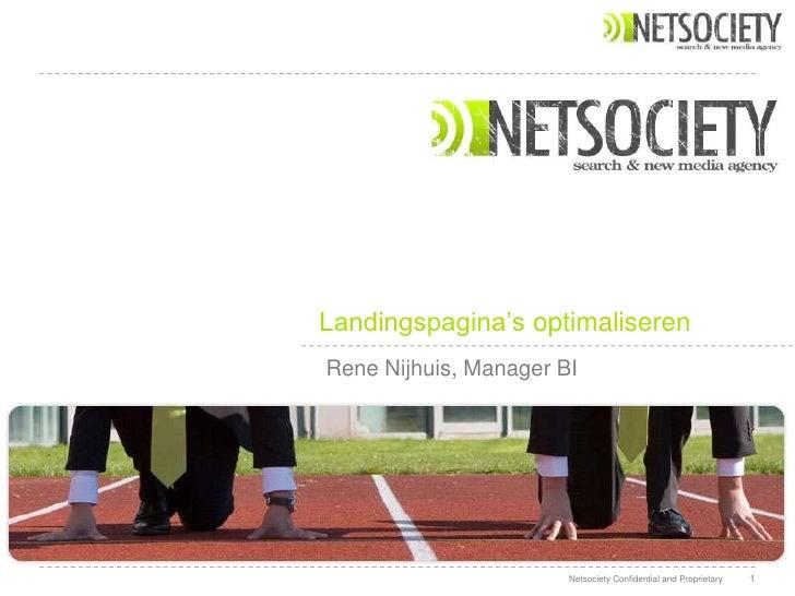 GAUC2010 - René Nijhuis, Netsociety