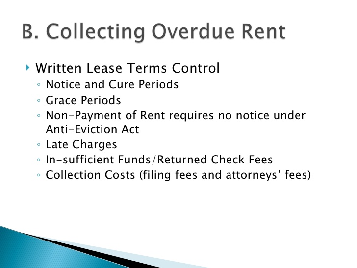rental late form fee