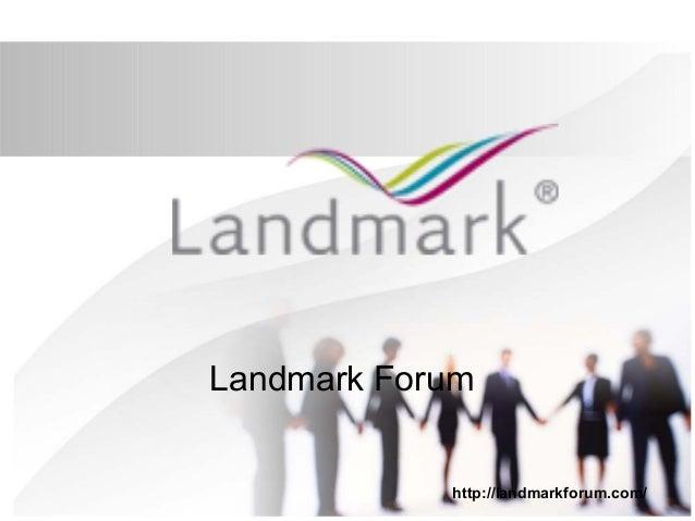Landmark forum dating