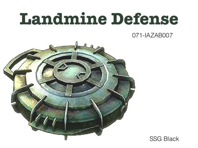 SSG Black Landmine/UXO defense class