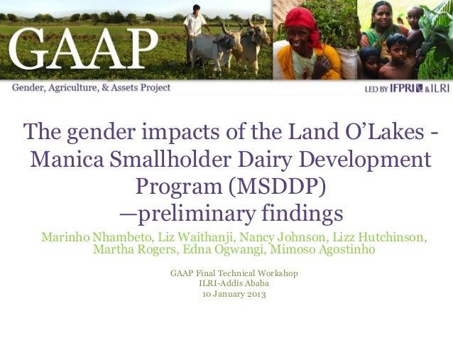 Land O Lakes GAAP Presentation January 2013