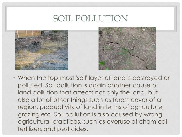 land pollution short essay