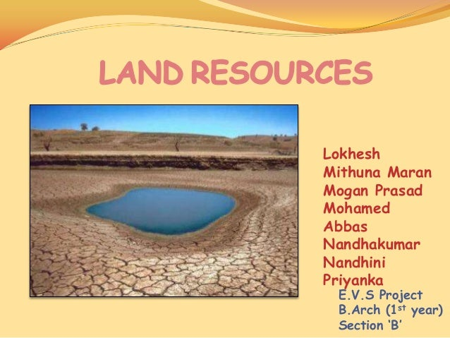 Land resources for Land and soil resources definition