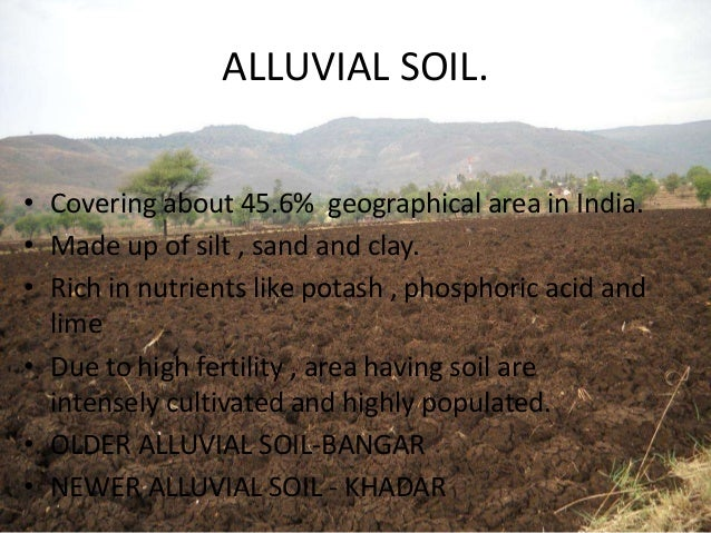 Picture suggestion for alluvial soil for Land and soil resources definition