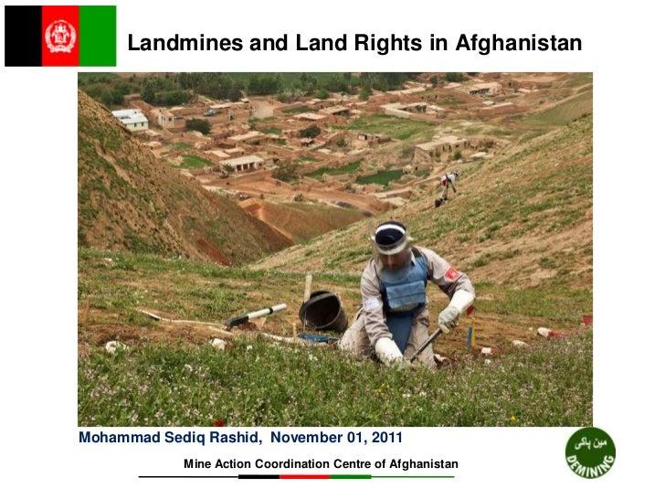 Mohammad Sediq Rashid - Mine Action Coordination Centre of Afghanistan (MACCA)