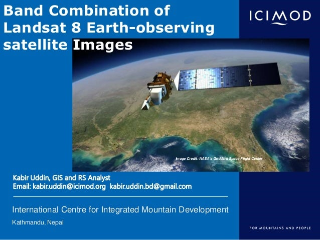 Band Combination of Landsat 8 Earth-observing Satellite Images