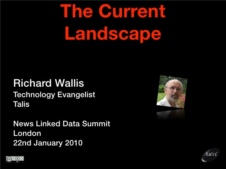 The Current             Landscape  Richard Wallis Technology Evangelist Talis  News Linked Data Summit London 22nd January...