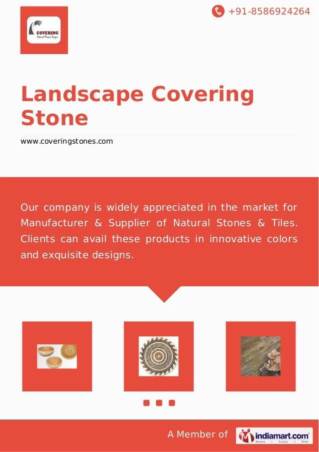 Landscape covering-stone