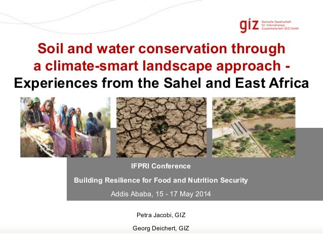 Soil and water conservation through a climate-smart landscape approach