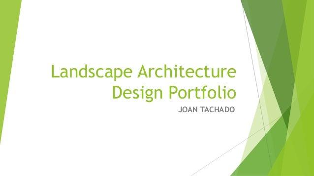 Landscape architecture design portfolio for Garden design portfolio
