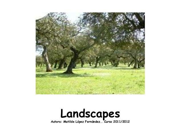 LandscapesAutora: Matilde López Fernández.. Curso 2011/2012