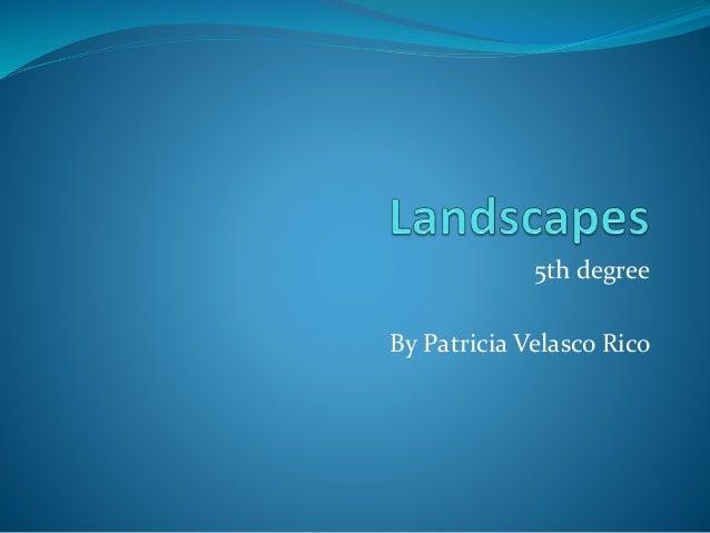 Landscapes 5th grade