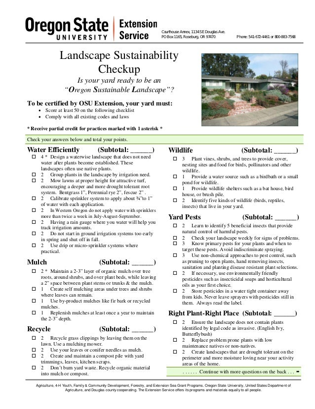 Landscape Sustainability Checkup: Is Your Yard Ready to Be An Oregon Sustainable Landscape