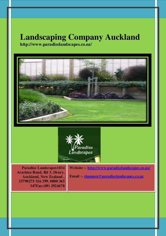 Landscaping company auckland for Auckland landscaping services