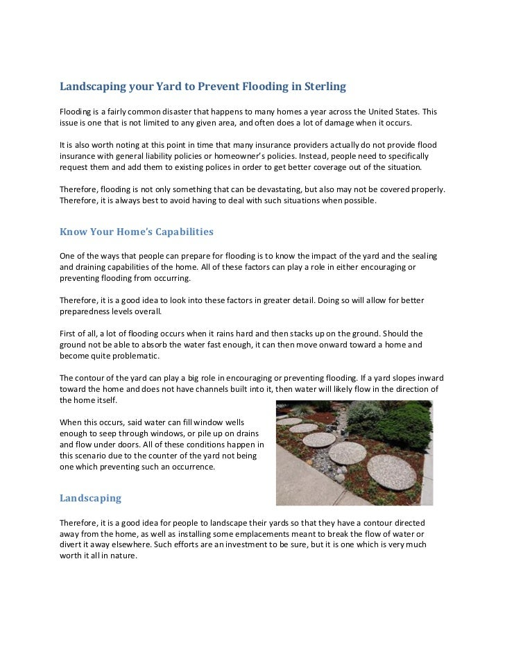 landscaping your yard to prevent flooding