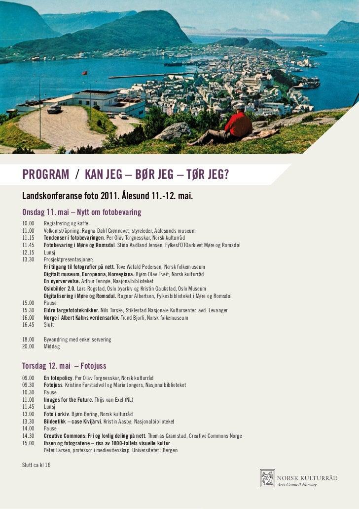Program for Landskonferanse foto 2011