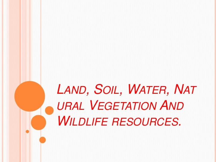 Land soil water natural vegetation for Land and soil resources definition