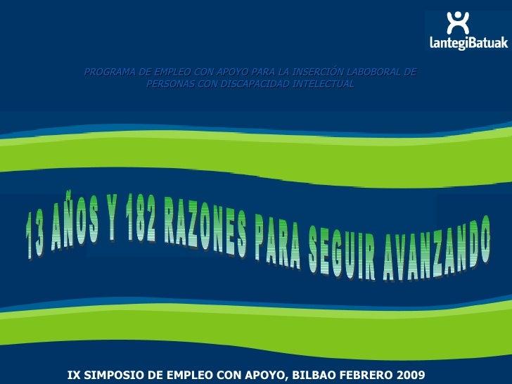 Lanerako simposio de Empleo con Apoyo Bilbao