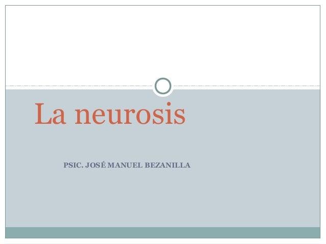 La neurosis
