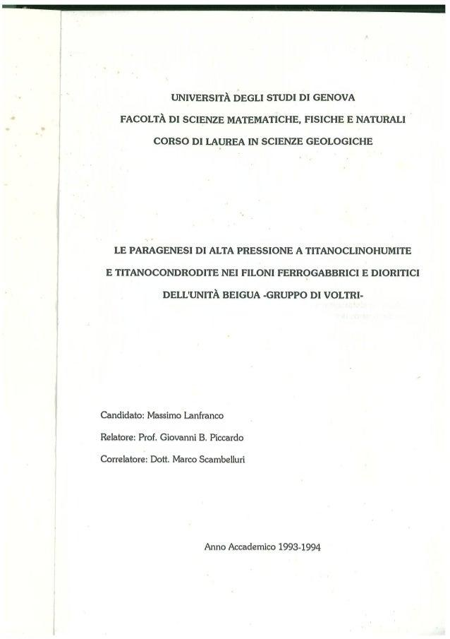Lanfranco (1994) titanclinohumite