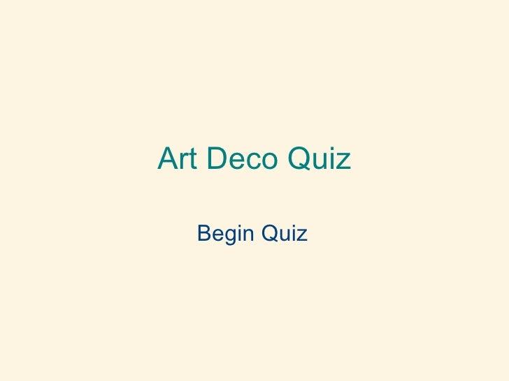 Mini Art Nouveau Quiz