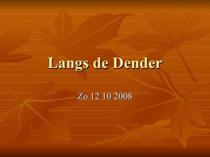 Langs de Dender Zo 12 10 2008