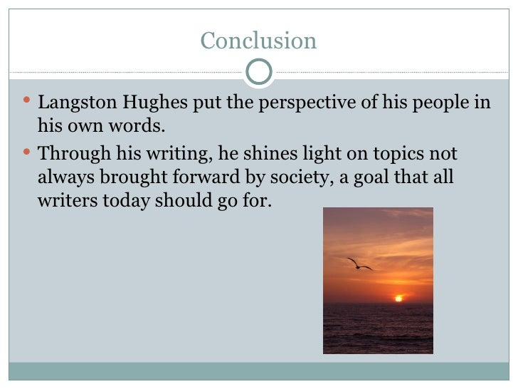 Example research paper on langston hughes